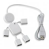 Оригинальный USB разветвитель для ноутбука HUB human, 4 порта, индикация работы
