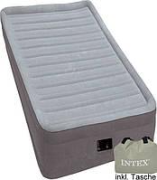 Надувная кровать INTEX Comfort-Plush Elevated Airbed 64412 ( 191 х 99 х 46 см.) с электрическим насосом.