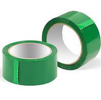 Скотч упаковочный зелёный 90м