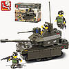 Конструктор Sluban серия Танковый корпус M38-B0287 (Танк М1А2 АБРАМС)