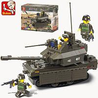 Конструктор Sluban серия Танковый корпус M38-B0287 (Танк М1А2 АБРАМС), фото 1