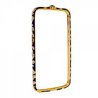 Бампер со стразами для iPhone 6/6S Plus темно синий, фото 1
