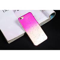 Чехол пластиковый капли воды для iphone 6/6Splus розовый