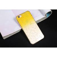 Чехол пластиковый капли воды для iphone 6/6Splus желтый