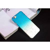 Чехол пластиковый капли воды для iphone 6/6Splus голубой