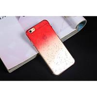 Чехол пластиковый капли воды для iphone 6/6Splus красный
