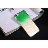 Чехол пластиковый капли воды для iphone 6/6Splus зеленый