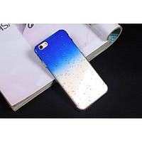 Чехол пластиковый капли воды для iphone 6/6Splus синий