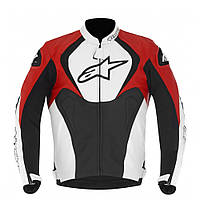 "Куртка Alpinestars JAWS кожа black\white\red ""50"", арт. 3101013 123, арт. 3101013 123, фото 1"