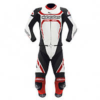 "Комбинезон Alpinestars MOTEGI 2PC white/red/black кожа ""52"", арт. 3161012 213, арт. 3161012 213"