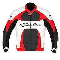 "Куртка Alpinestars GP PLUS white/red/black кожа ""54"", арт. 3100911 231, арт. 3100911 231"