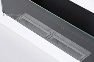 Биокамин Nice-House H-Line 65x40 см, белый,  с защитным стеклом, фото 2
