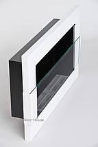 Биокамин Nice-House H-Line 65x40 см, белый,  с защитным стеклом, фото 3
