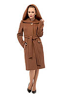 Зимнее женское кашемировое пальто, коричневый