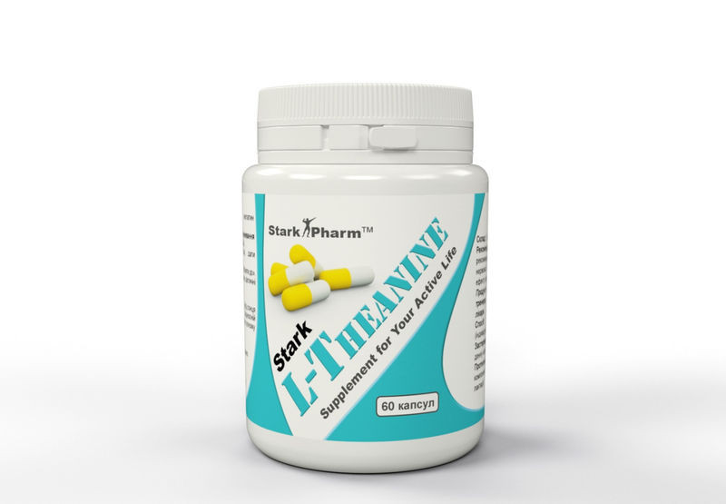 L-Theanine 200 мг 60 капс Stark (Л-теанин, Л-Тіанин) натуральный релаксант
