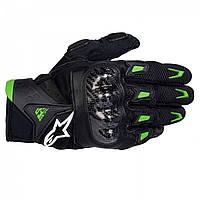 "Перчатки Alpinestars SMX-2 кожа black\green ""M"", арт.3567711 16, арт. 3567711 16"