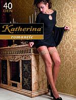 Женские чулки на силиконе Romantic 40 den Katherina