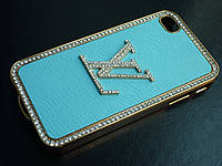 Чехлы для iPhone 4 4S Louis Vuitton с камнями Swarovski