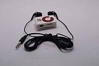 MP3 плеер с наушниками MP-113: белый, 3,5 мм mini jack, mini USB для зарядки, индикатор состояния