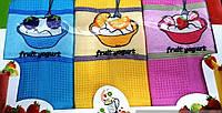 Набор ярких кухонных вафельных полотенец