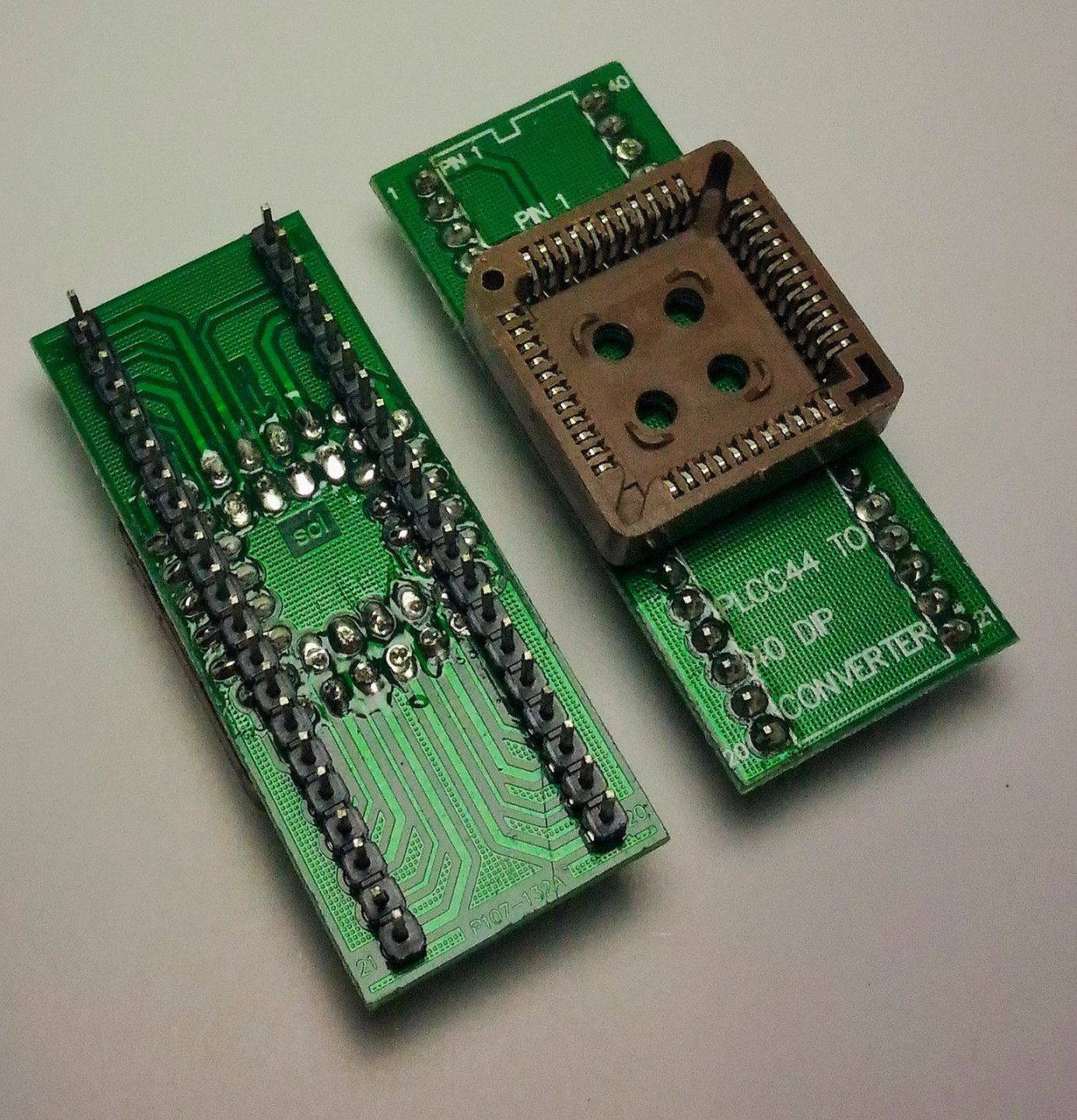 Адаптер (переходник) PLCC44-DIP40. 1 шт