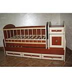 Колисковий світ ліжко-трансформер МДФ, фото 4