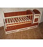 Колисковий світ ліжко-трансформер МДФ, фото 5