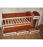 Колисковий світ ліжко-трансформер МДФ, фото 6