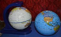 Вращающийся глобус без подставки 10см