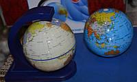Вращающийся глобус с подставкой 15см