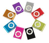 MP3 плеер прищепка MP-112, металлический корпус, USB 2.0, microSD до 16ГБ, цвета в ассортименте