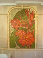 Мозаичное панно в интерьере частного дома