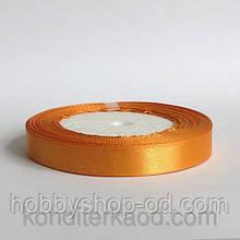 Лента атласная 1,2 см  золотистая
