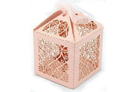 Бонбоньерка цветы розового цвета