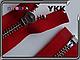 Металл YKK 75cm 519 красная 1 бег №5 никель, фото 3
