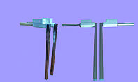 Ножки для кровати-шкафа никель, выс. 450мм