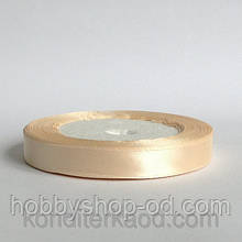 Лента атласная 1,2 см  айвори