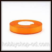 Лента атласная 1,2 см  оранжевая
