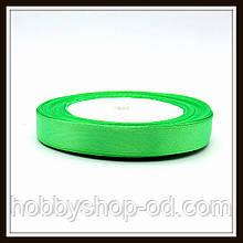 Лента атласная 1,2 см  светло-зеленая