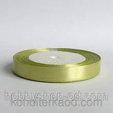 Лента атласная 1,2 см  светло-оливковый