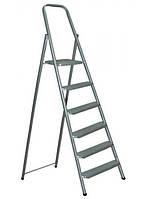 Лестница-стремянка стальная 6-ступенчатая (высота до площадки - 1,31, рабочая высота - 3,61 м)