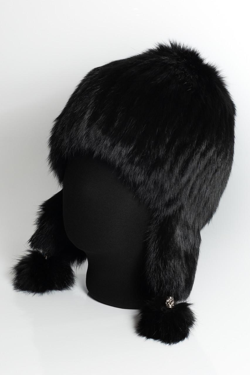 меховая шапка на вязаной основе с ушами продажа цена в одессе