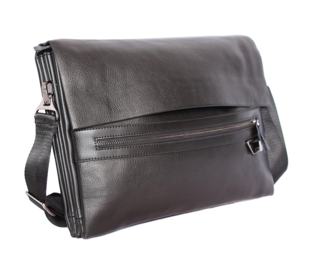 40d6c1c0a7e5 Мужская кожаная сумка горизонтальная формата А4 черная отличного качества -  АксМаркет в Киеве