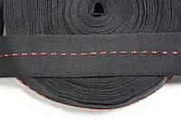 ТЖ 40мм репс (50м) черный+красный , фото 1