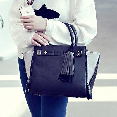 Черная женская сумка для офиса EV130