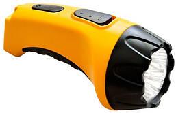 TH2293 аккум. фонарь желтый 4LED