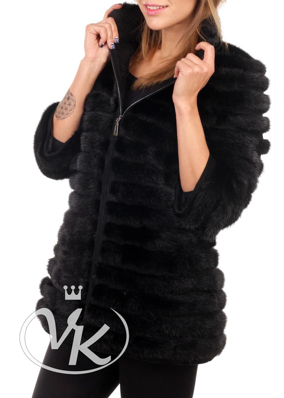 Куртка из натурального меха длинная зимняя женская (Арт. PAL202)