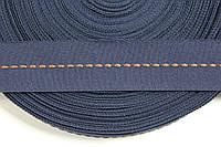ТЖ 40мм репс (50м) т.синий+коричневый , фото 1