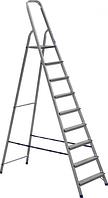 Лестница-стремянка стальная 9-ступенчатая (рабочая высота - 4.26м, высота до площадки - 1,96 м)