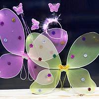 Карнавальный костюм крылья Феи - крылья бабочкии радужные